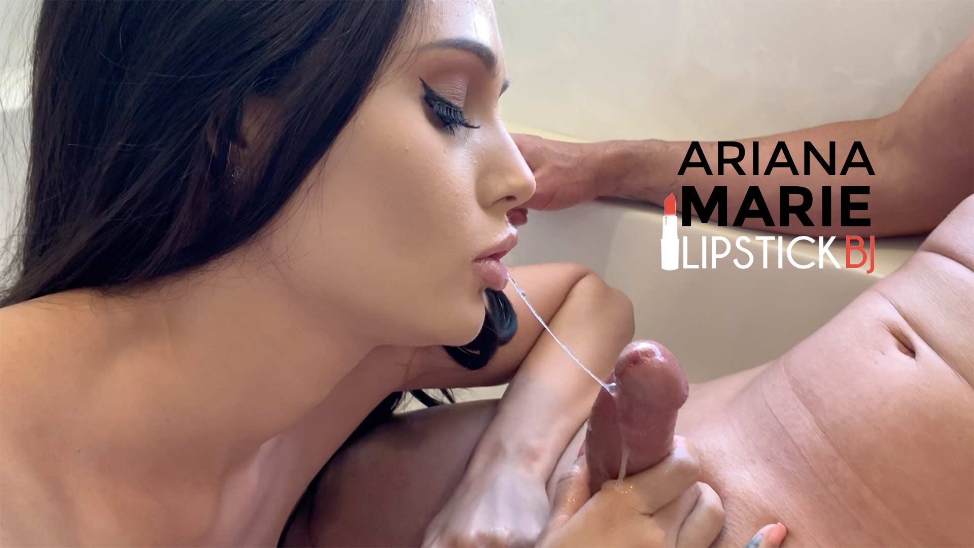 Ariana Marie Gives a Lipstick Blowjob
